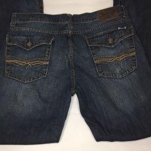 Seven7 Men's Boots Distress  Flap Pockets 36 x 32